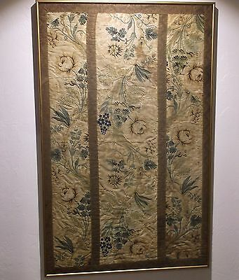 Antique 18Th Century Chinese Silk Embroidery For The European Market Fragment