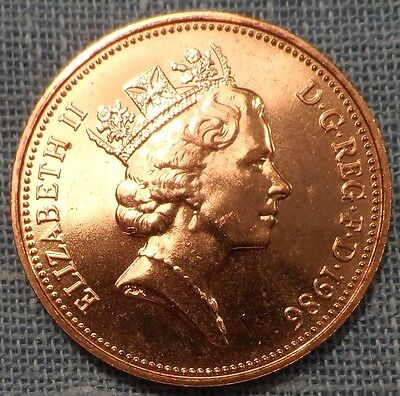 Great Britain  1986   Two 2 Pence KM#936    Brilliant Uncirculated