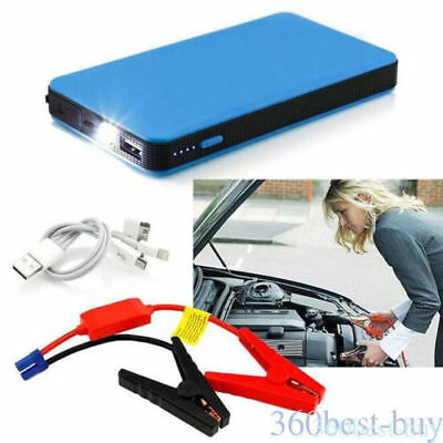 12V 20000mAh Car Jump Starter Booster Battery Charger Emergency Power Bank Blue