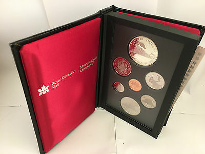 1986 Canada Proof Set 7 Coins Silver Dollar included