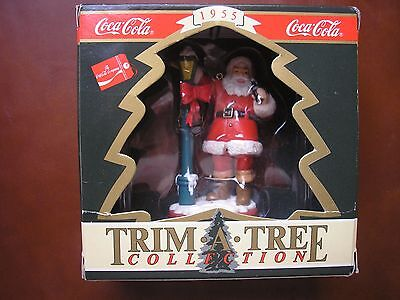 Coca-Cola Christmas Collection Trim*a*tree Collection 1955 Santa With Lamp Post