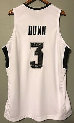Kris Dunn Autographed & Inscribed Providence Signed XL College Jersey (Dunn COA)