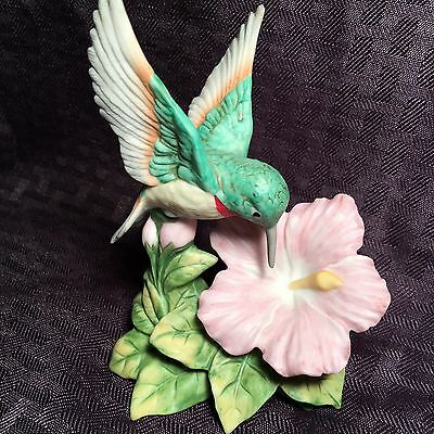 HOMCO Hummingbird With Pink Flower 1429