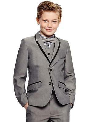 Custom Made Gray Children's Suits Flower Boys' Wedding Party Tuxedos Kids' Suit