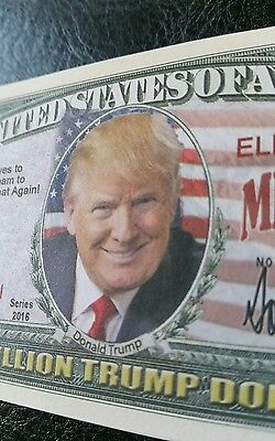 Donald Trump USA political banknote