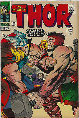 Thor #126 (1966, Marvel) Premiere Issue, Jack Kirby, Stan Lee, G/VG-