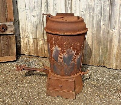 Antique Vtg Cast Iron Metal Parlor Cabin Barn Stove Heater Incubator Furnace
