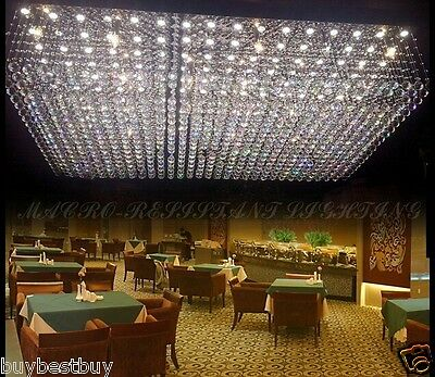 Crystal Ceiling Lamp hang LED light Fixture Curtain Pendant Chandelier hall L9