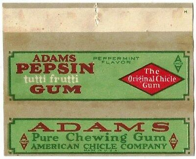 !!!EXTREMELY RARE!!! Vtg 1910's American Chicle Adams Pepsin Chewing Gum Wrapper