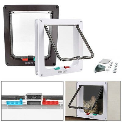 Extra Large Middle Small Pet Cat, Dog Lockable Flap Door Gate Telescoping Frame