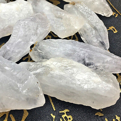 50g Natural White Amethyst Quartz Crystal Rough Rock Specimen Healing NEW