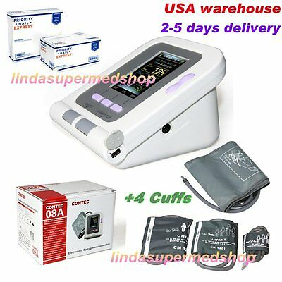 FDA Approved Fully Automatic Upper Arm Blood Pressure Monitor 3 mode 4 Cuffs USA