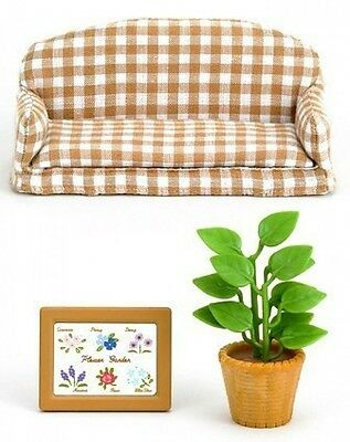 Sylvanian Families Doll  Accessory Furniture Living Room Sofa Set 518 From Japan