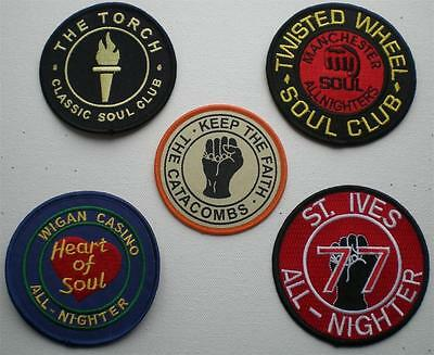 Northern Soul Patch - 5 Patch Set - 5 Famous Soul Club Patches - Set 1