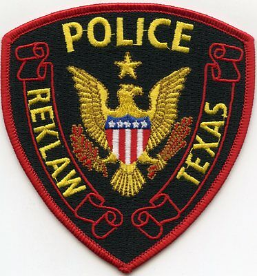 Reklaw Texas Tx Police Patch