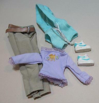 BARBIE doll outfit-4 TANNER DOG Pet Shop OWNER~Clothes Graphic Pup T-Shirt Shoes
