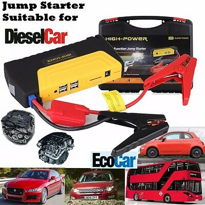 68800mAh 12V Diesel Car Jump Starter Booster Battery Charger Power Bank Pack
