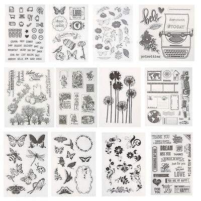 Silicone Clear Stamp Seal Scrapbooking Diary Album Christmas Card DIY NEW