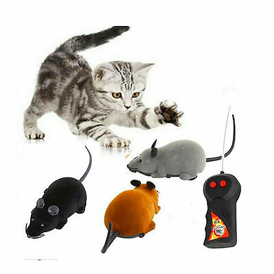 FA Funny Remote Control Rat Mouse Wireless For Cat Dog Pet Toys Gift Novelty