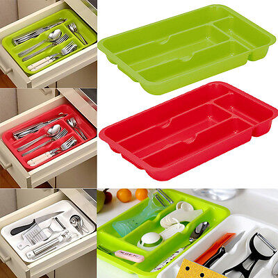 Plastic Cutlery Tray Box Insert Cabinet 30*20cm Kitchen Drawer Storage Organiser