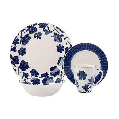 Maxwell & Williams Symphony Blue Rim Dinner Set 16 Piece Gift Boxed Brand New