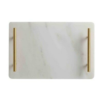 Maxwell & Williams Mezze Marble Tray Gold Handle 30x20cm Gift Boxed Brand New