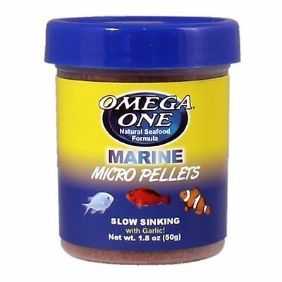 Omega One Marine Micro Pellets with Garlic, 1.8 oz. by Omega One  50g