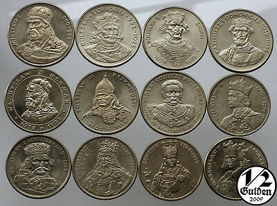 POLAND 12 COINS Kings of Poland 1979 1989 UNCIRCULATED NUMISHOP