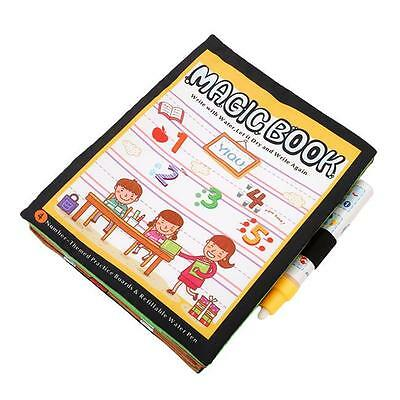 1x Magic Water Drawing Painting Mat Doodle Book wi/ Pen Kids Educational Toy
