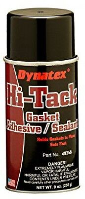 Dynatex High Tack Gasket Adhesive Spray, Fast Drying Pungent Solvent Scent 9 oz.
