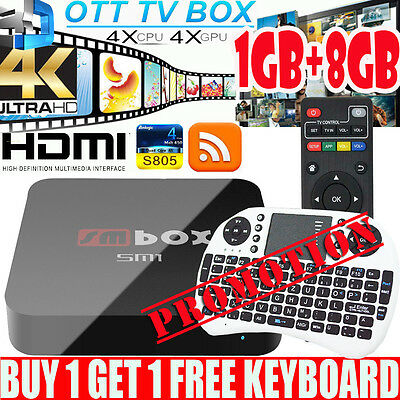 New 4K Quad Core SMBOX Pro Android 6.0 TV Box LATEST 17.3 ULTRA Live Movies UK