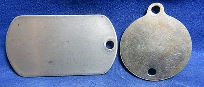 WWI Era 1920s and Vietnam War Blank Army Dog Tags Lot Of 2
