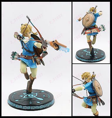 "10"" Legend of Zelda Breath of the Wild hero LINK Archer PVC figure statue no box"