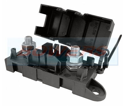 12V 24V Volt Heavy Duty In-Line Mega Fuse Holder Car Van Marine Truck Tractor