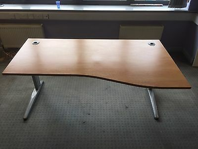 Used Cherry 1800 Right/Left Wave Cantilever Desk
