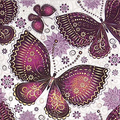 4x Paper Napkins -Ethnic Butterfly - for Party, Decoupage