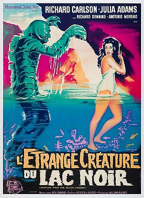 Original The Creature from the Black Lagoon, French Grande, Film/Movie Poster