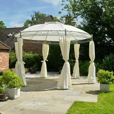 2.7M x 3.5M ROUND HEAVY DUTY OUTDOOR GARDEN GAZEBO PARTY TENT MARQUEE CURTAINS