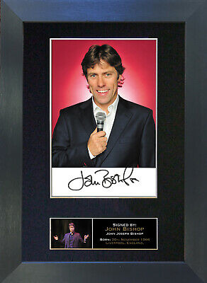 JOHN BISHOP Mounted Signed Photo Reproduction Autograph Print A4 181