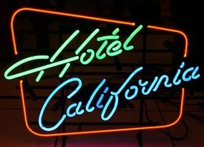"""New Hotel California Beer Pub Bar Real Glass Neon Light Sign 20""""x16"""""""