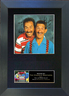 CHUCKLE BROTHERS No1 Signed Mounted Autograph Photo Reproduction Prints A4 175