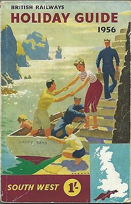 BRITISH RAILWAYS HOLIDAY GUIDE 1956 South West PLUS Railway Map
