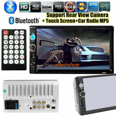 """7"""" Double 2DIN Car MP5 LCD Player Bluetooth Touch Screen Stereo Radio HD US STOC"""