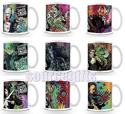 New * Suicide Squad * Mug Cup Harley Quinn Joker Etc Official Licensed Product