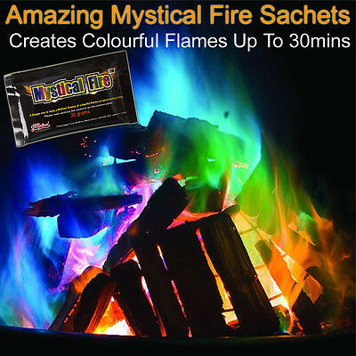 Mystical Fire Sachet Changing Flame Colour Dust Pit Burning Log Burner Chimeneas