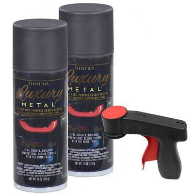 Plasti Dip Luxury Metal Spray, BLACK SAPPHIRE METALLIC, 2 Cans, Cangun1 Trigger