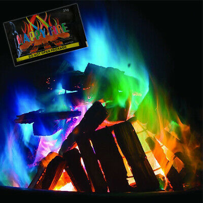 Mystical Fire Dust Camping Changing Flames Colourful Log Burner Pit Outdoor Burn