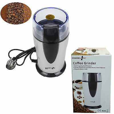 New Electric Coffee Grinder Nut Beans Spice Grinder 130W Powerful 70g Sharp 6242