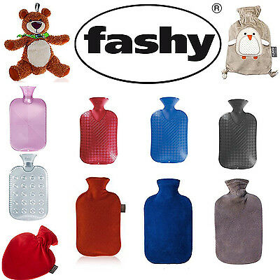 Hot Water Bottle Fashy Soft Fleece Cover Penguin Various Sizes Designs 0.8L-2L
