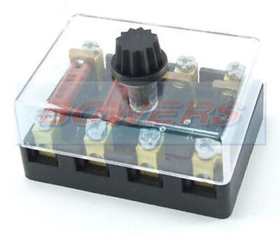 6V 12V 24V Volt 4 Way Ceramic Torpedo Continental Fuse Box Holder Classic Car